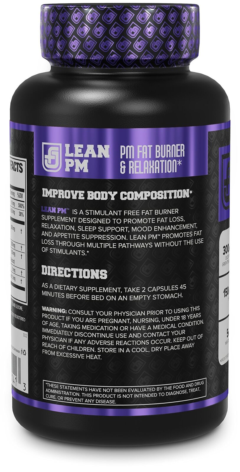 LEAN PM Night Time Fat Burner Sleep Aid Supplement ...