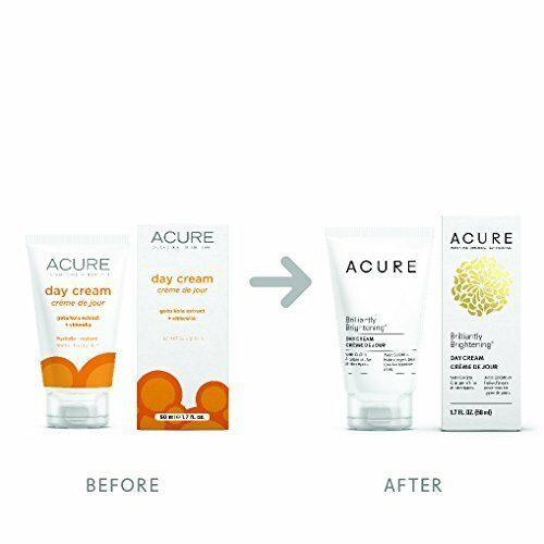 Acure Brilliantly Brightening Day Cream 1.7 Fluid Ounce